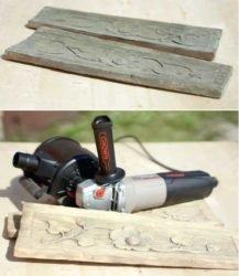 До и после обработки брашировальной машинкой