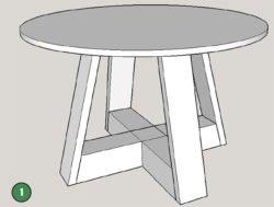 Sketchup модель стола