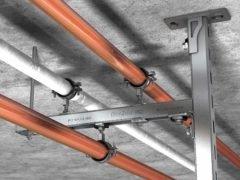 Хомут Fischer FRS L Universal Фишер трубное крепление RAL резьбовые шпильки знак качества маркировка