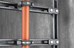 Хомут Fischer FRS L Universal Фишер трубное крепление RAL шуруп знак качества маркировка