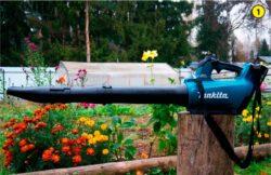 Makita DUB184 Макита DUB184Z аккумуляторная воздуходувка тест наплечный ремень воздуходув