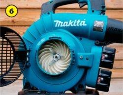 Makita Макита DUB363 DUB363ZV аккумуляторная воздуходувка пылесос тест крыльчатка турбина измельчитель воздуходув