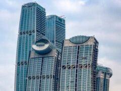 Raffles City Chongqing анкер Fischer FZP II Фишер The Crystal Sky Bridge самый высокий горизонтальный небоскреб Чунцин Китай