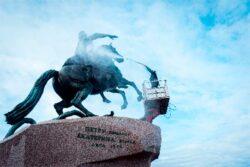 Kärcher Karcher Керхер промывка памятник Петр I Сенатская площадь