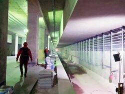 Фасадные системы Hilti MR VFH московское метро станция Народное ополчение Большая кольцевая линия БКЛ