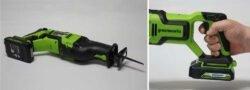 аккумуляторная сабельная пила Greenworks GD24RS
