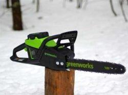 Аккумуляторная цепная пила Greenworks GD60CS40