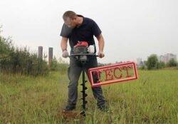 Efco TR 1551 мотобур тест